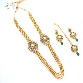 Exclusive Gold Necklace With Austrian Diamond Kundan